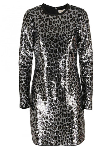 Michael Michael Kors Animal Print Sequin Dress