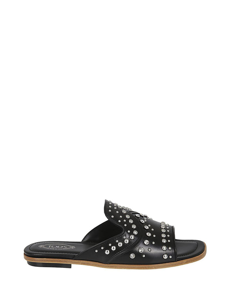 Tod's Studded Leather Slides