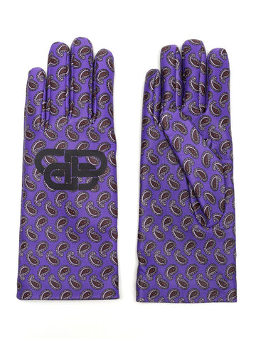 Balenciaga BB Paisley Printed Gloves