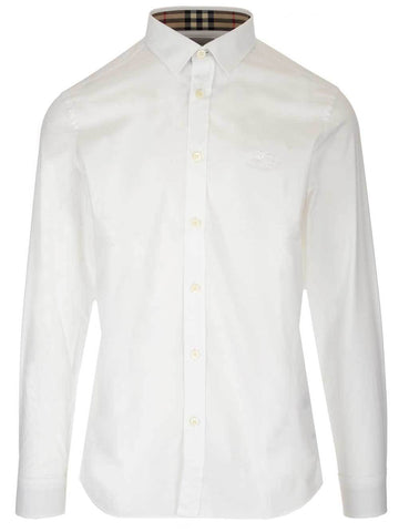 Burberry Logo Check Collar Shirt