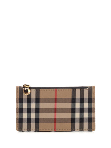 Burberry Zipped Vintage Check Cardholder