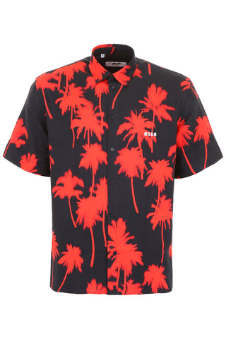 MSGM Palm Tree Print Shirt