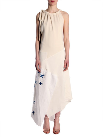 JW Anderson Birds Embroidered Asymmetric Dress
