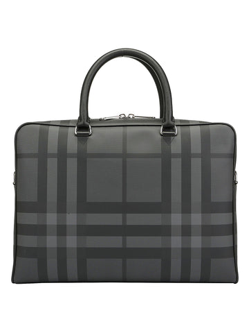 Burberry Checked Top Handle Briefcase