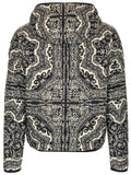 Moncler Bandana Printed Zip-Up Jacket