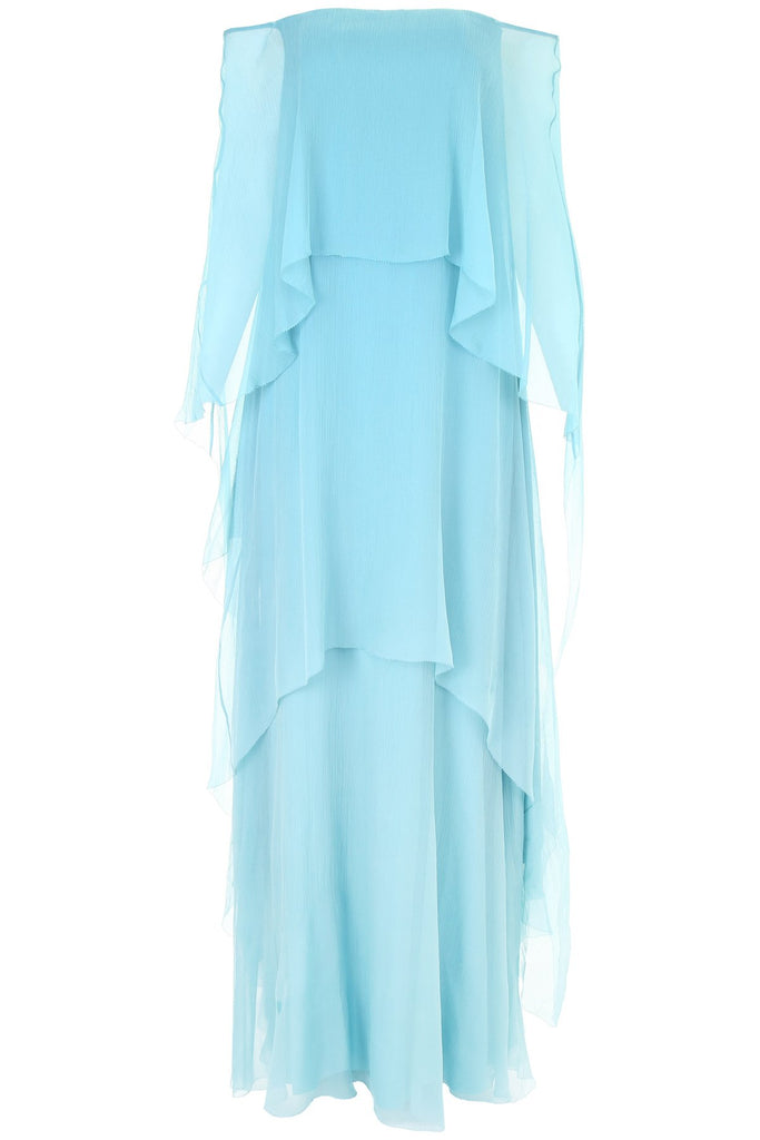 Alberta Ferretti Silk Layered Maxi Dress