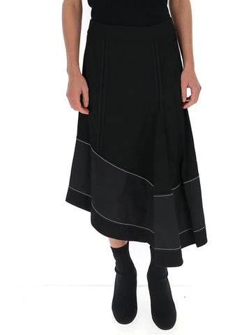 3.1 Phillip Lim Panelled Asymmetric Flared Skirt