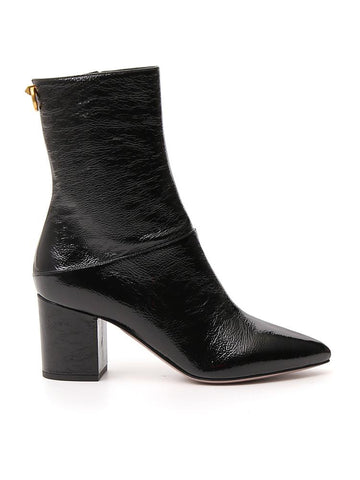Valentino Block Heel Ankle Boots