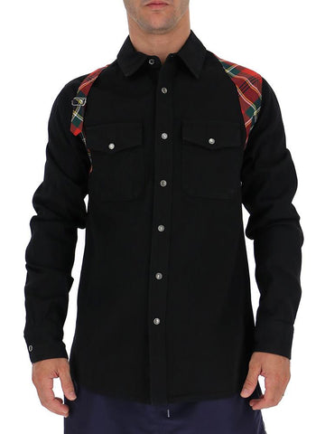 Alexander McQueen Plaid Harness Panelled Shirt