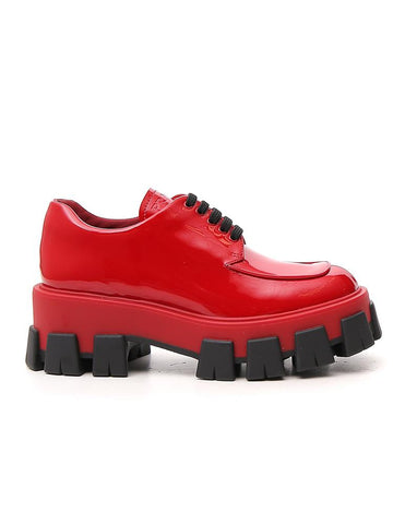 Prada Derby Platform Shoes