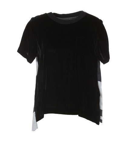 Sacai Pleated Back Contrast Print T-Shirt