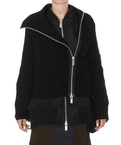 Sacai Layered Asymmetric Zip-Up Jacket
