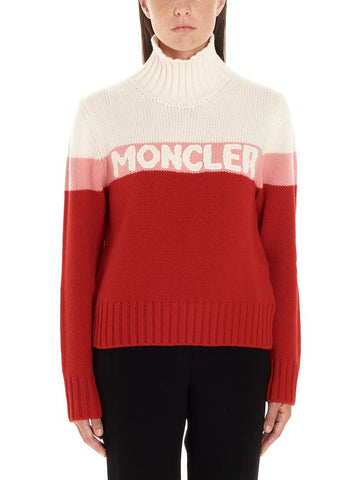 Moncler Contrasting Stripes Turtleneck Sweater