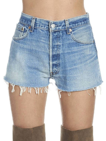 RE/DONE Distressed Mini Shorts