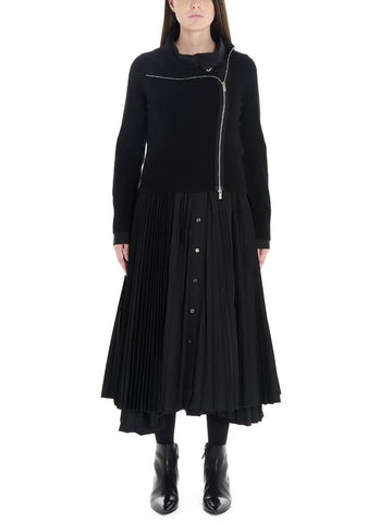 Sacai Pleated Midi Dress