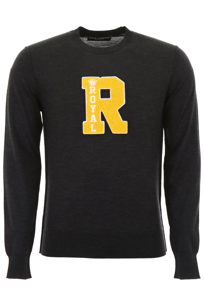 Dolce & Gabbana Royal R Crew Neck Sweater