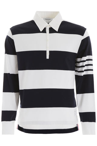 Thom Browne Striped Rugby Polo