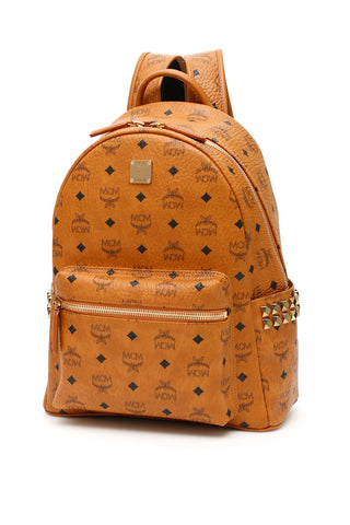 MCM Stark Visetos Studded Backpack
