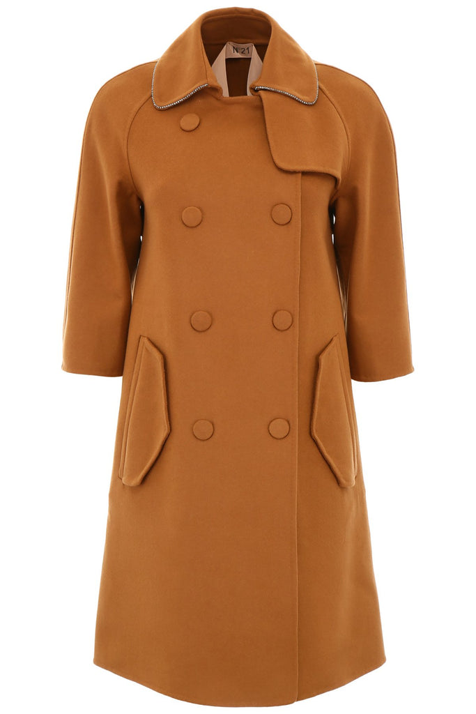 N°21 Double-Breasted Cropped Sleeves Coat