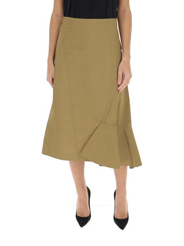 3.1 Phillip Lim Ruffled Asymmetric Midi Skirt