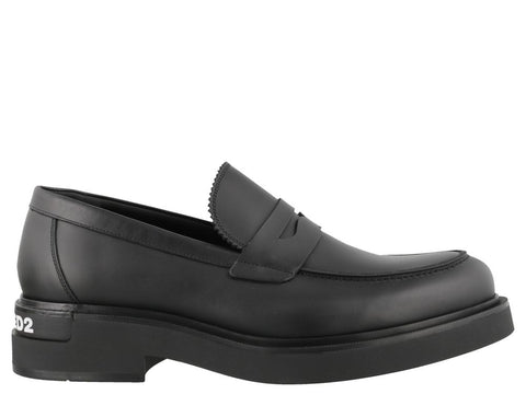 Dsquared2 Logo Heeled Loafers