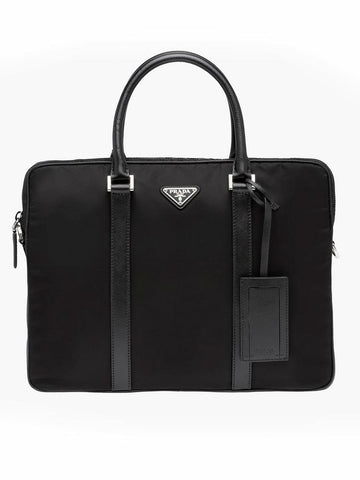 Prada Logo Plaque Briefcase