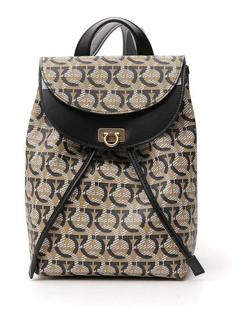 Salvatore Ferragamo Gancini Printed Backpack