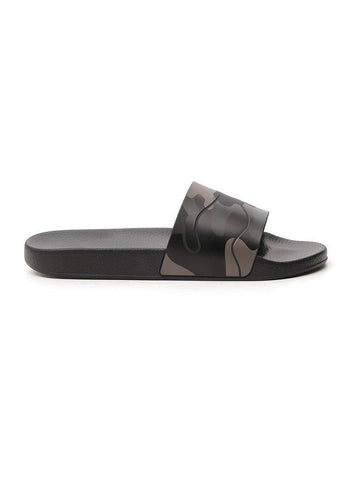 Valentino Camouflage Printed Slides
