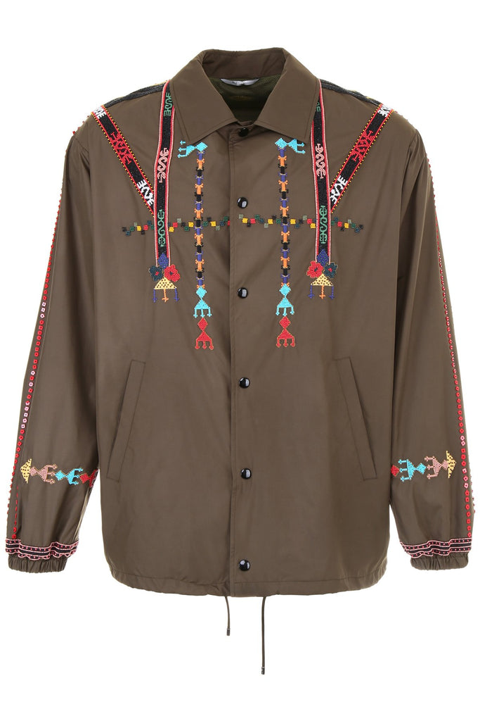 Valentino Embroidered Army Jacket