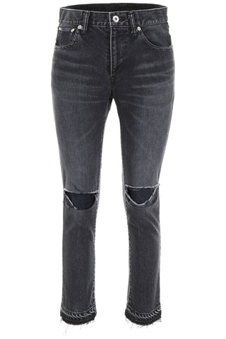 Sacai Distressed Knee Skinny Jeans