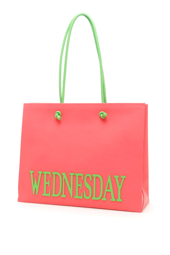 Alberta Ferretti Large Rainbow Week Wednesday Tote