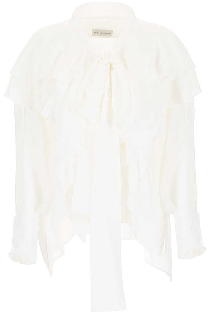 Faith Connexion Silk Crepe Oversized Blouse