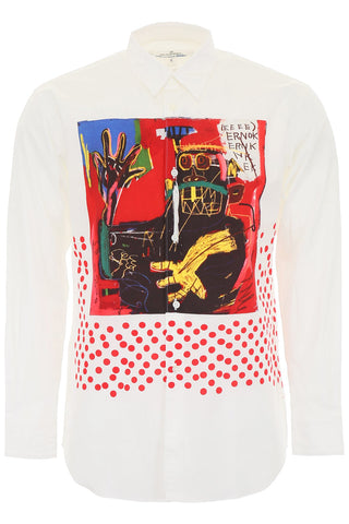 Comme Des GarÇons X Jean-Michel Basquiat Graphic Design Collared Shirt