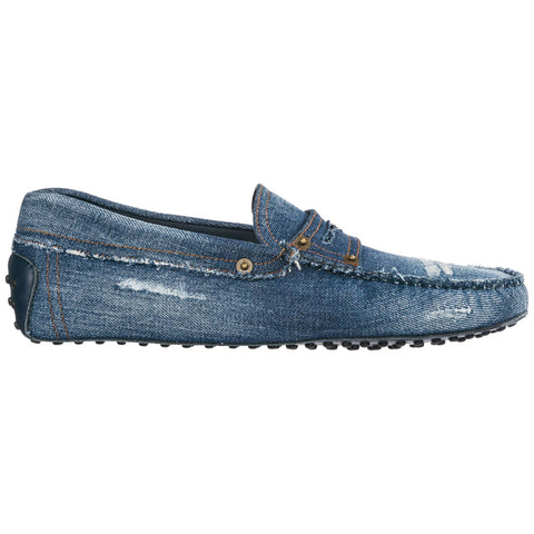 Tod's Distressed Gommino Driving Loafers