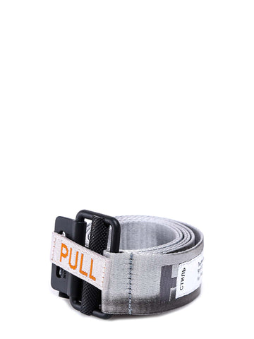 Heron PReston Distressed Logo Webbed Belt