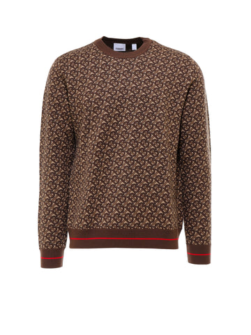 Burberry Monogram Jacquard Sweater