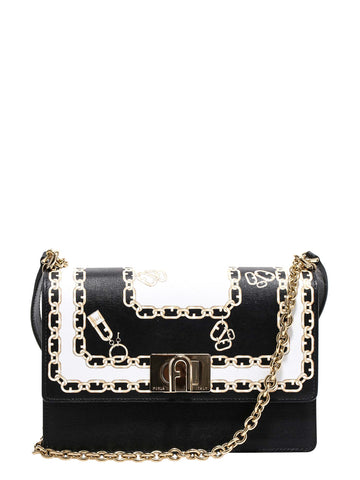 Furla Printed Chain Shoulder Bag