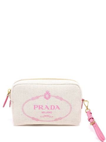 Prada Logo Makeup Bag