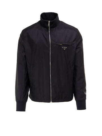 Prada Logo Zip Up Jacket