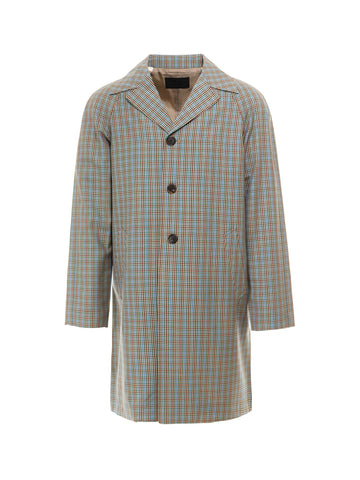 Prada Checked Print Coat