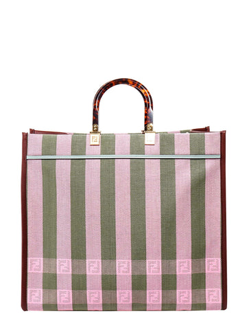 Fendi Sunshine Striped Tote Bag