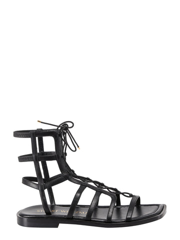 Stuart Weitzman Lace-Up Caged Sandals