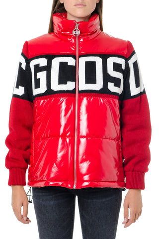 GCDS Logo Panelled Down Jacket