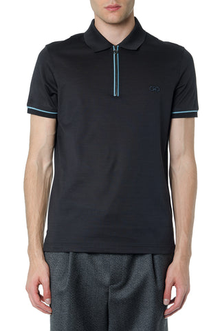 Salvatore Ferragamo Contrasting Edges Polo Shirt