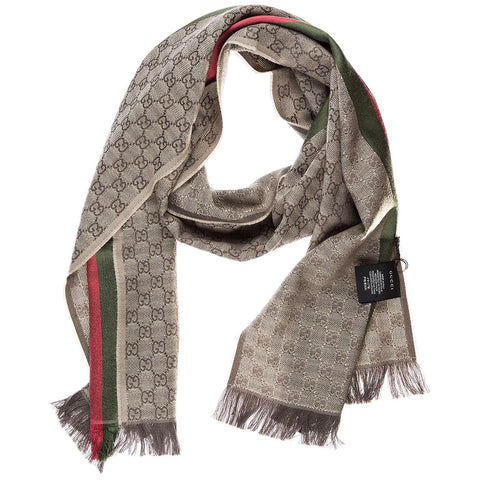 Gucci GG Jacquard Web Knitted Scarf