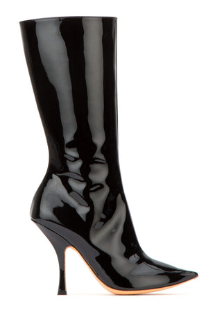 Y / Project Patent Pointed Toe Boots