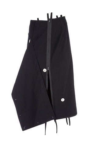 3.1 Phillip Lim Zipped Asymmetric Button Detail Skirt