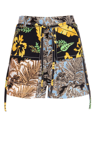 3.1 Phillip Lim Printed Patchwork Shorts