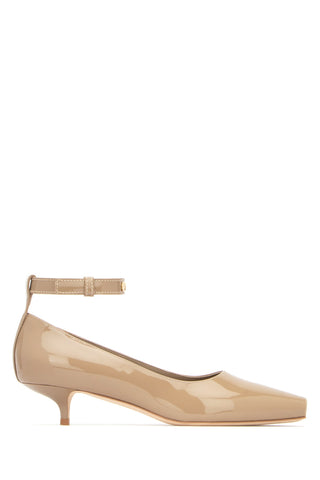 Burberry Peep-Toe Ankle Strap Pumps