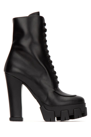 Prada Heeled Lace-Up Boots